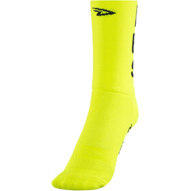 "DeFeet Aireator 5"" Doppellagige Socken do epic shit (neon gelb)"